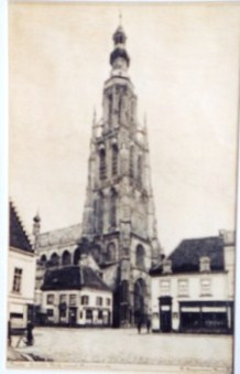 506 - Great Church in Breda (Inkpainting) 1936 [50x35]